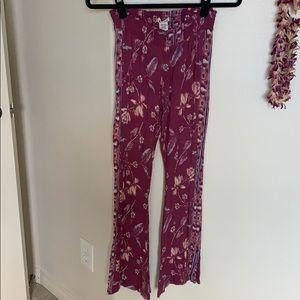 Billabong flare linen pants
